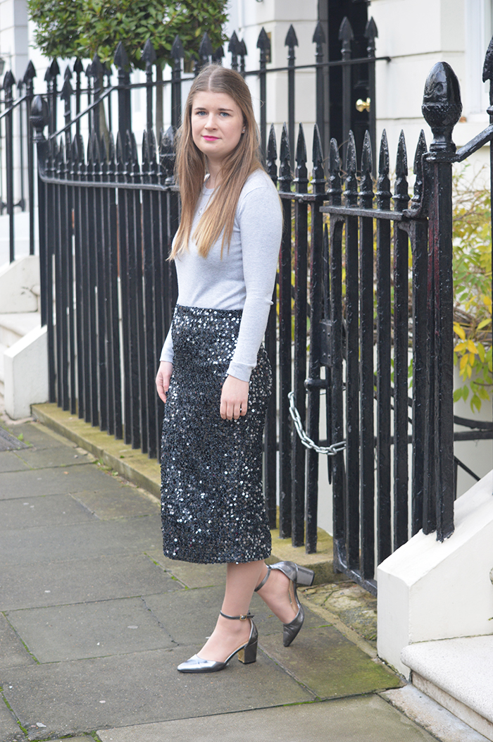 sequin skirt warehouse bloggers