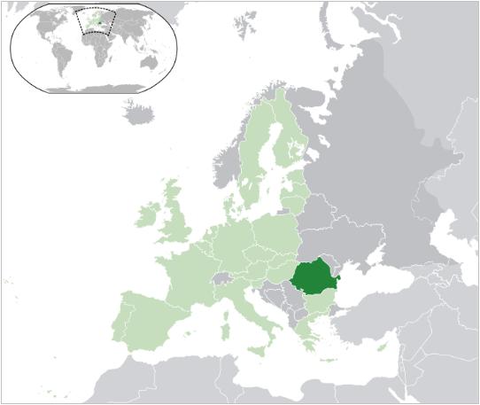 Mapa de Europa, Rumanía
