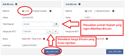 Limit pengisian bitcoin