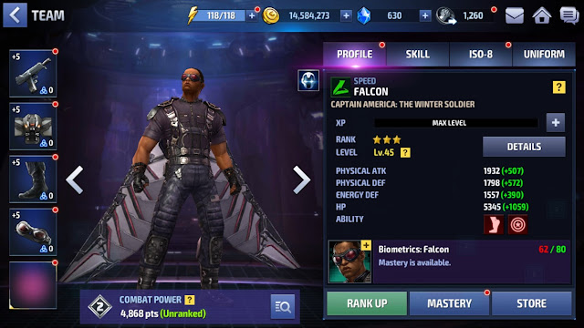 Marvel Future Fight Falcon