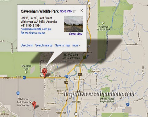 Caversham Wildlife Park Map