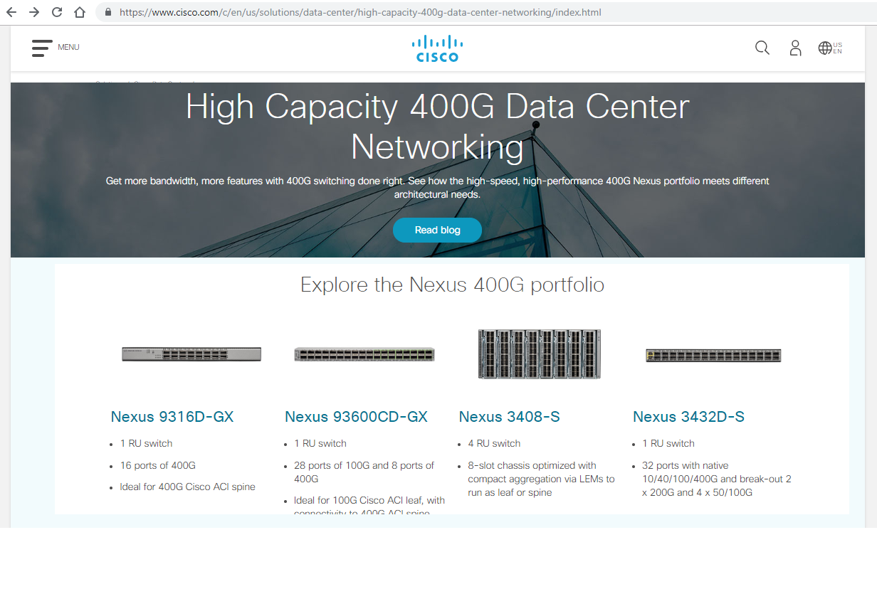 Converge! Network Digest: Cisco launches 400G data center