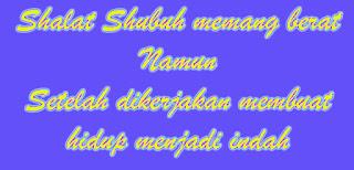 Pengalaman Shalat Shubuh