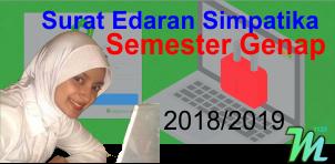 Surat Edaran Simpatika Semester Genap Tahun Pelajaran 2018/2019