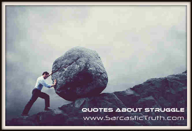 Quotes About Struggle Sarcastic Truth