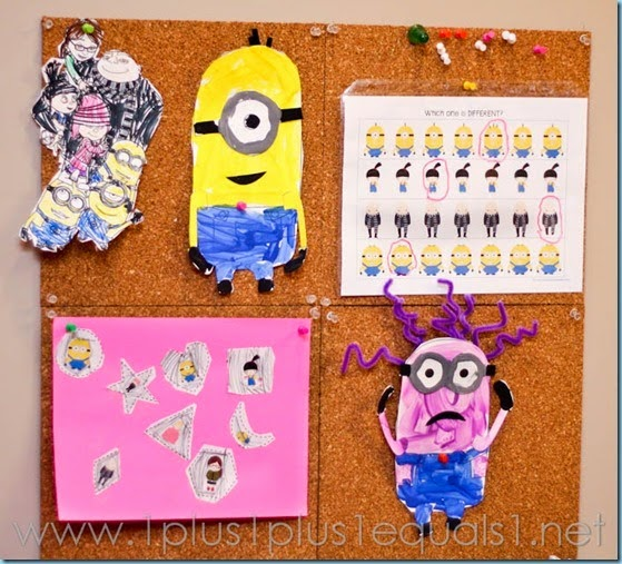 Despicable me preschool crafts