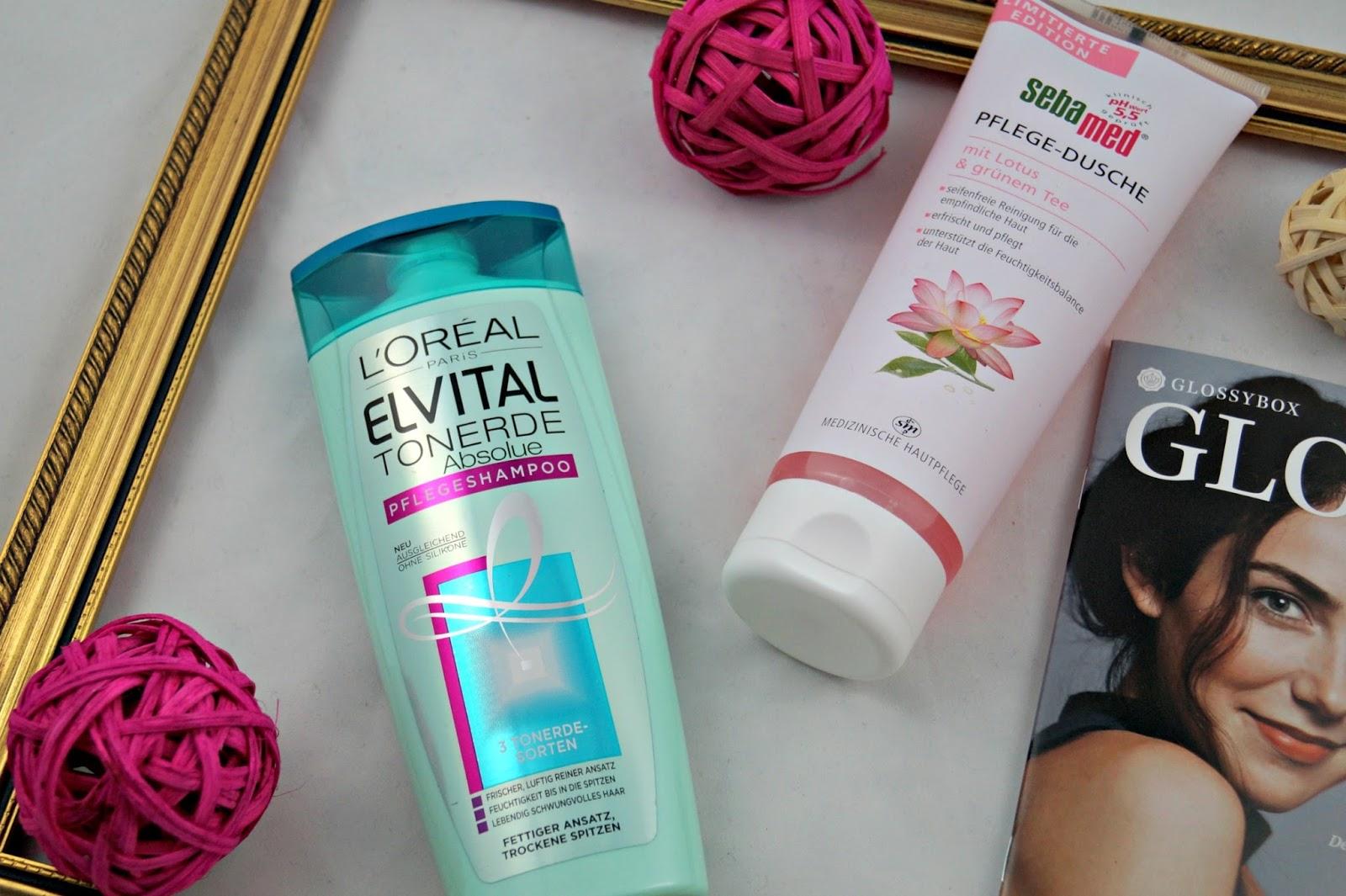 Elvital Tonerde Absolue Shampoo von L'Oréal & sebamed Pflege-Dusche