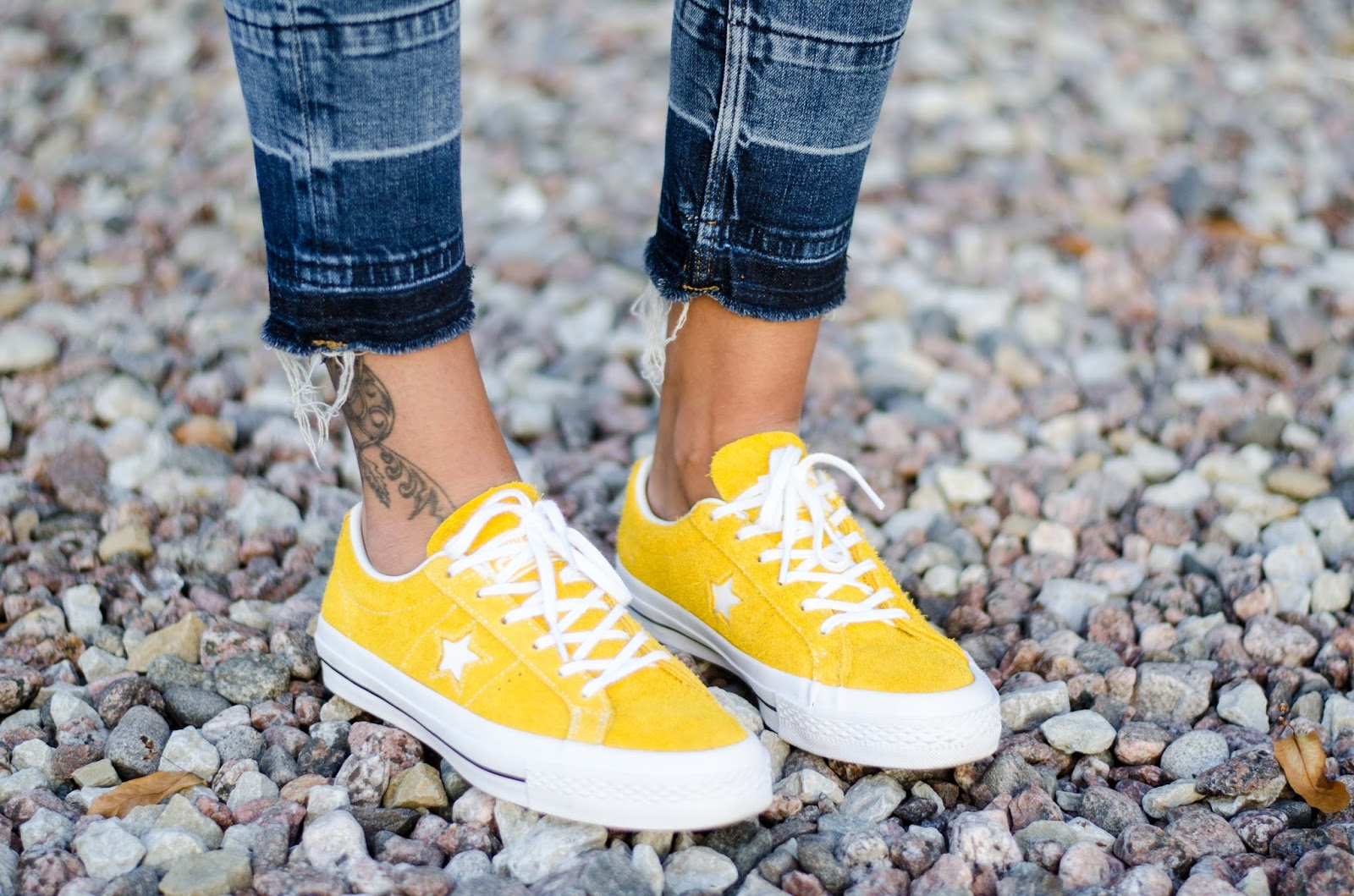 converse yellow suede sneakers