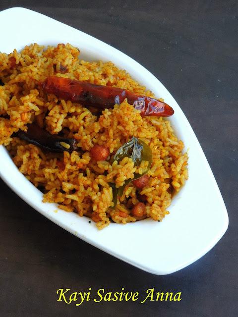 Kayi Sasive Anna, Mustard Coconut Rice