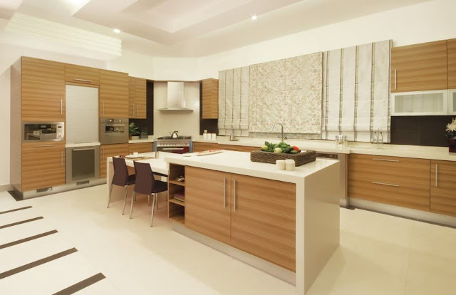 Tủ bếp laminate có bàn đảo