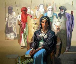 La Kahina reunida con los líderes amazighen. Foto de archivo.