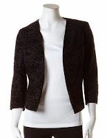 http://www.cleo.ca/flocked-floral-open-front-blazer/1214CR744400411.html?dwvar_1214CR744400411_colour=Black&dwvar_1214CR744400411_AIP=Regular