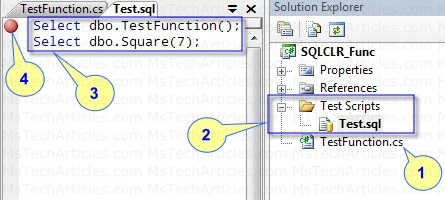 Testing the SQLCLR Function in Visual Studio