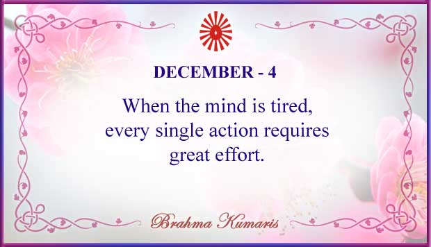 Thought For The Day December 4