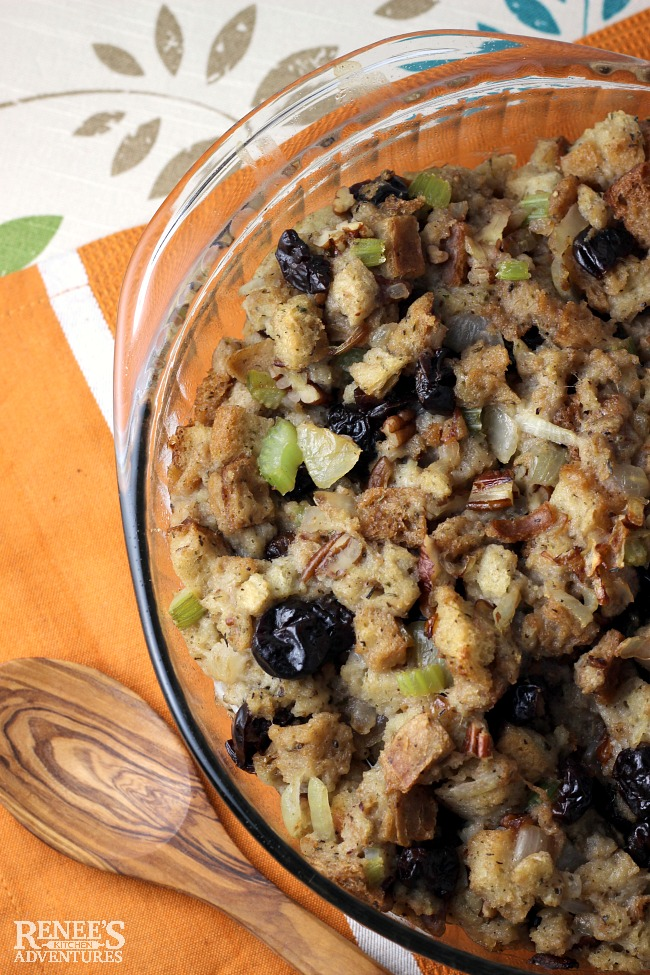 Easy Cherry Pecan Stuffing | by Renee's Kitchen Adventures