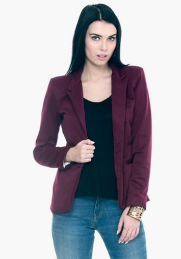 FIERCE SCUBA BLAZER - OXBLOOD INR- 2700
