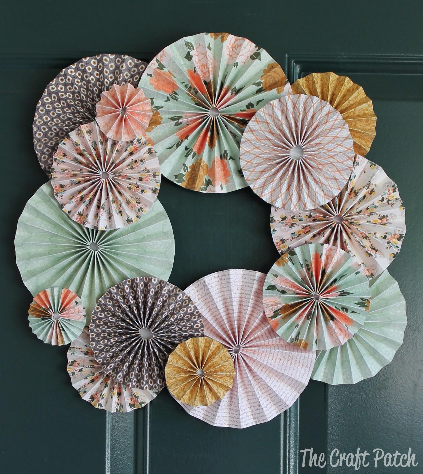 Accordion Fold Paper Flowers Thecraftpatchblog Com