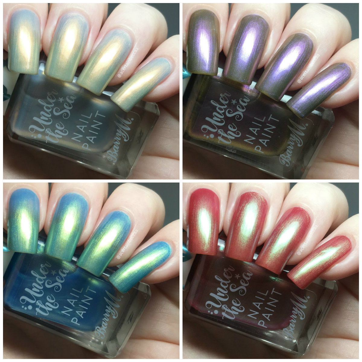 Finger Nail Paint: A Certain Becca Nails: Barry M Under The Sea Nail Paints