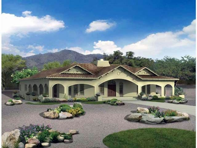 hacienda house plans center courtyard picture