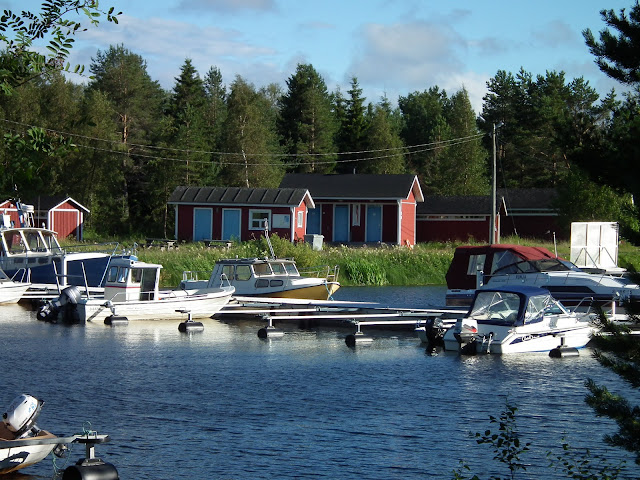 ranta, Tervon satama, Pyhäjoki, kesä, vene
