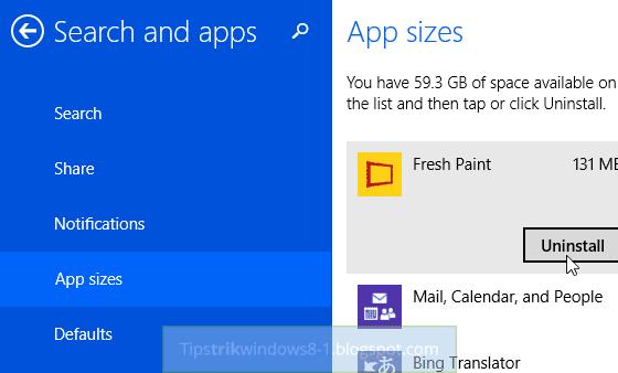 cara menghapus uninstall aplikasi metro di windows 8.1