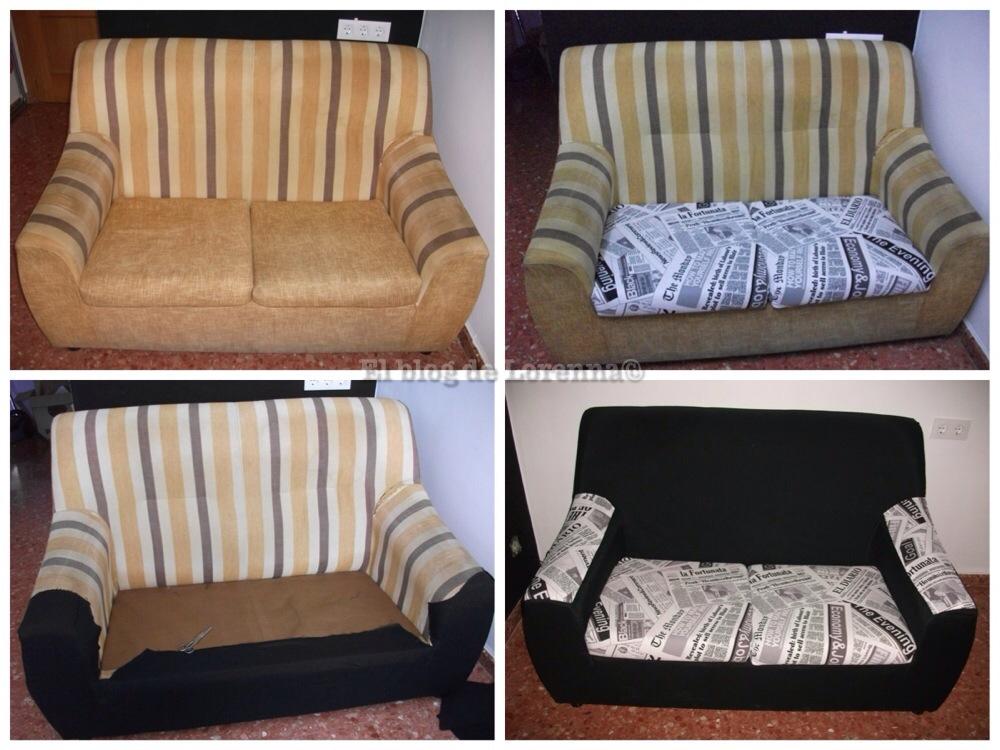 El blog de lorenna tapizar un sof low cost - Sofas tapizados en tela ...