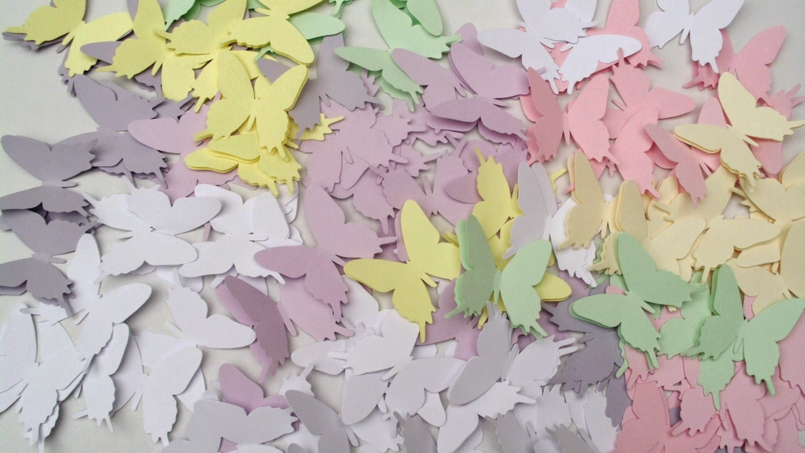 colorful handmade paper butterflies
