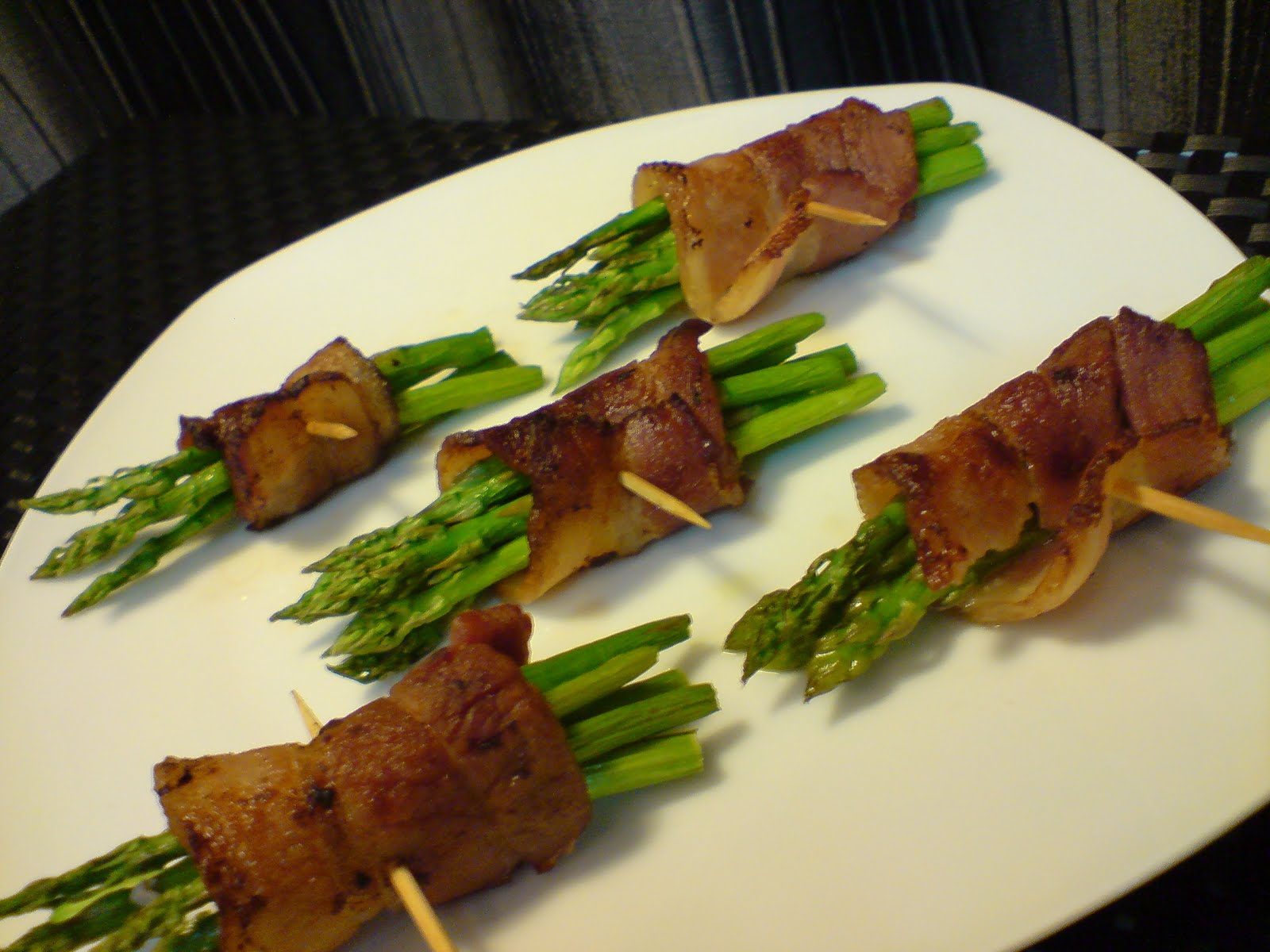 Grilled Asparagus In Bacon Rolls Shan S Recipes