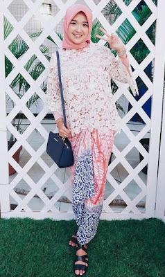 Baju muslim brokat model atasan