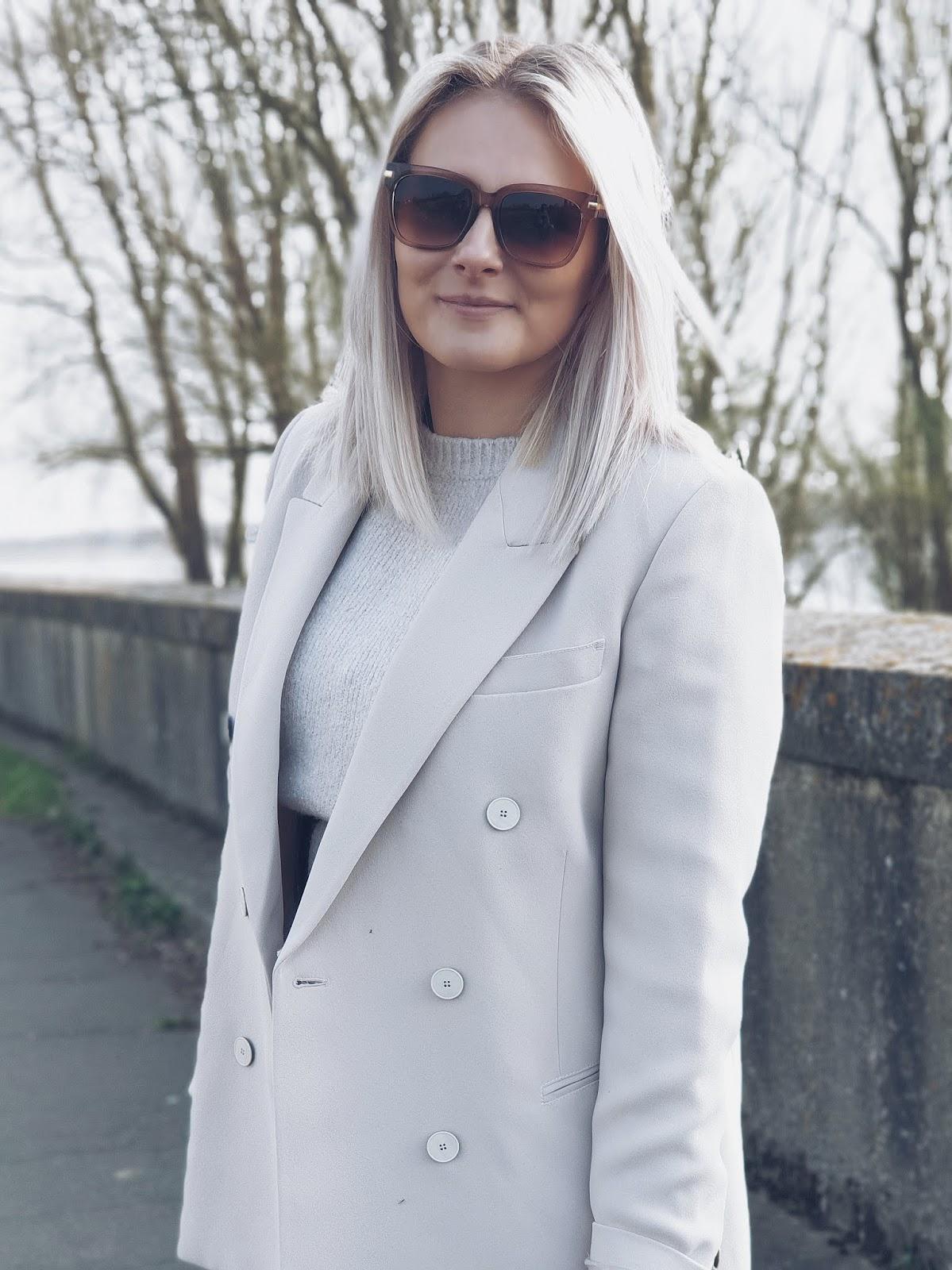 Maxi dress & oversized blazer #lotd czyli idealna sukienka maxi wiosennie