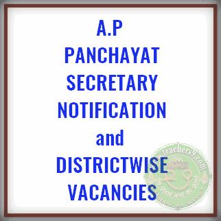 A.P Panchayat Secretary Notification and District wise vacancies