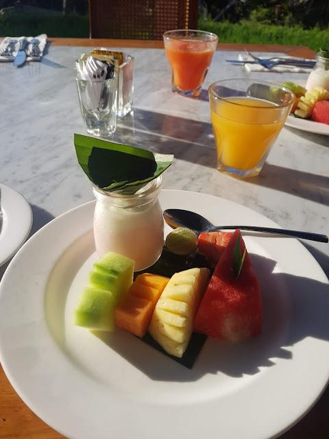 Colazione all'Alaya Ubud resort-Bali