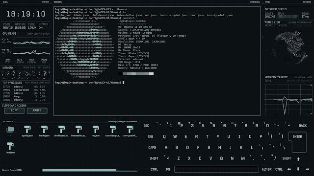 eDEX UI scifi computer interface