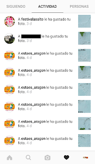 Notificaciones en Instagram.