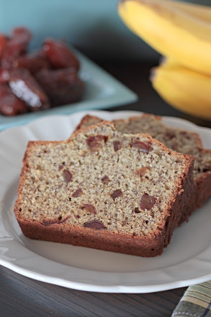 banana date flax bread