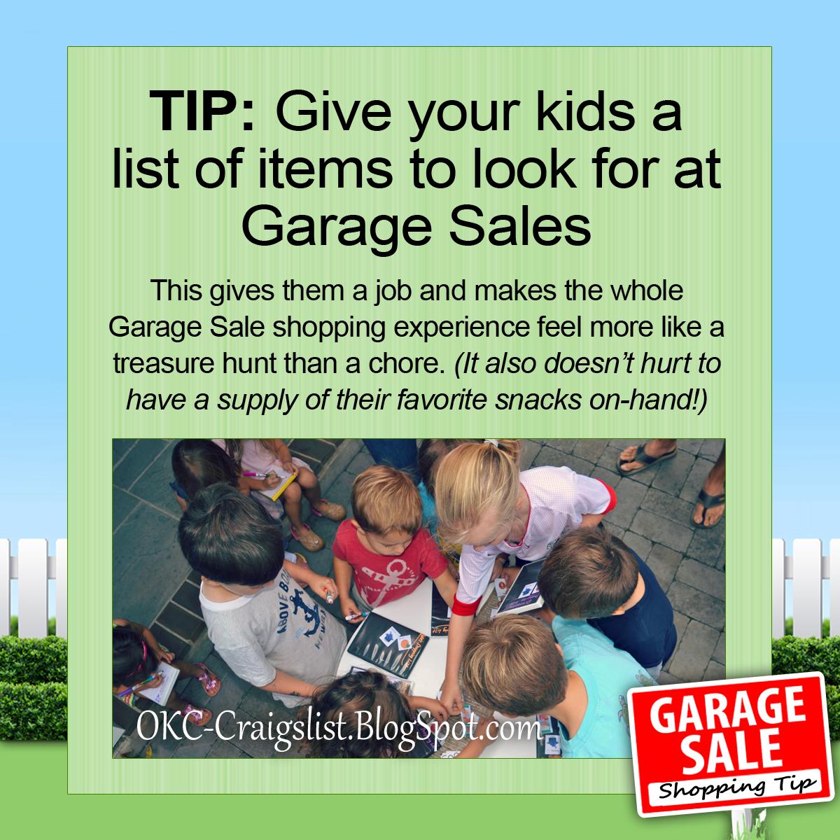 GARAGE SALE TIP: Turn Garage Saling into a Treasure Hunt for Kids