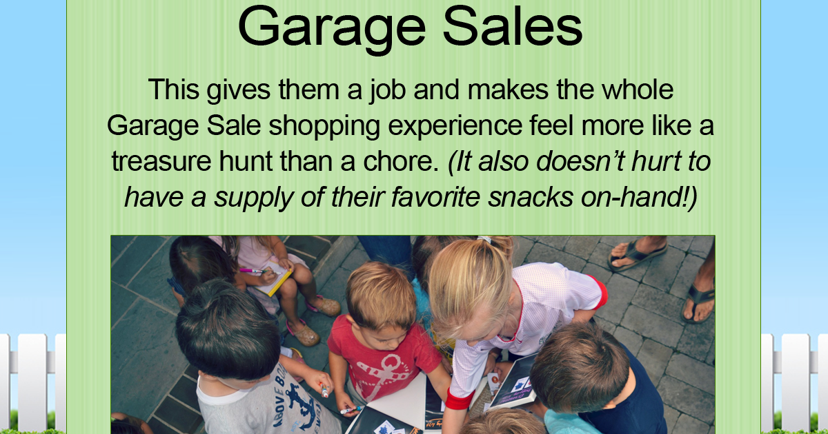 Buy Here Pay Here Okc >> GARAGE SALE TIP: Turn Garage Saling into a Treasure Hunt ...