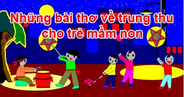 Những bài thơ về trung thu cho trẻ mầm non