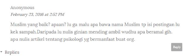 reaksi atas surat terbuka dari blogger