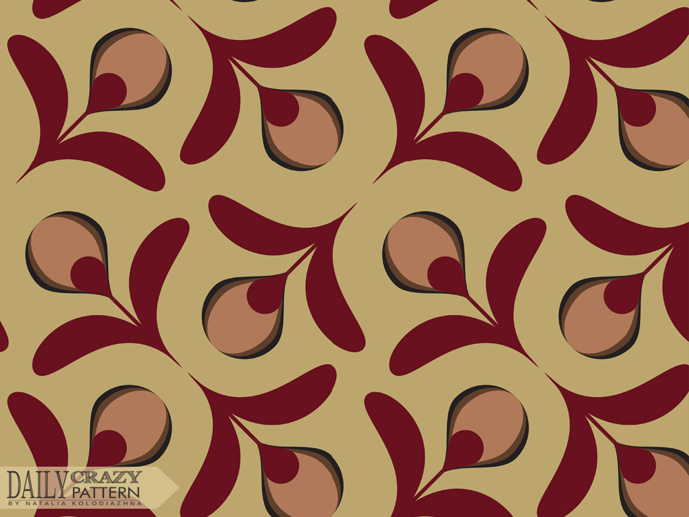 "Retro pattern for ""Daily Crazy Pattern"" project"