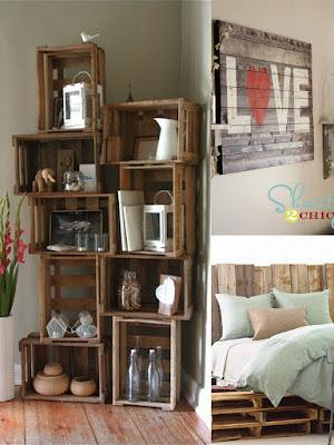 Decoración para tres ambientes diferentes con madera recicalda