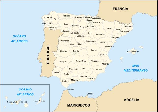 Mapa España Comunidades Autonomas Blanco Y Negro.Mapa De Provincias De Espana En Blanco Y Negro Manualelni