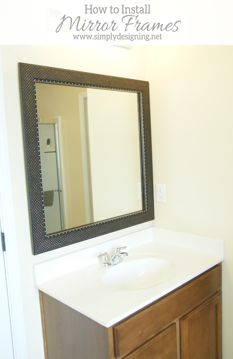 Cute How to Install Bathroom Mirror Frames in about minutes diy homeimprovement