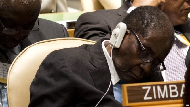 Zimbabwe's Robert Mugabe 'not asleep just resting his eyes'