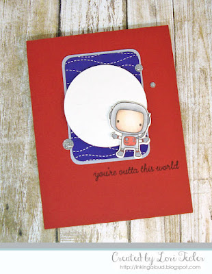 You're Outta This World card-designed by Lori Tecler/Inking Aloud-stamps and dies from Reverse Confetti