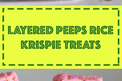 Layered Peeps Rice Krispie Treats