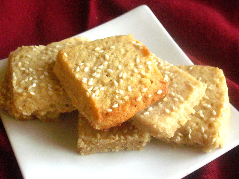 Miso Sesame Shortbread Cookies 1 Leah Chase Food Recipes