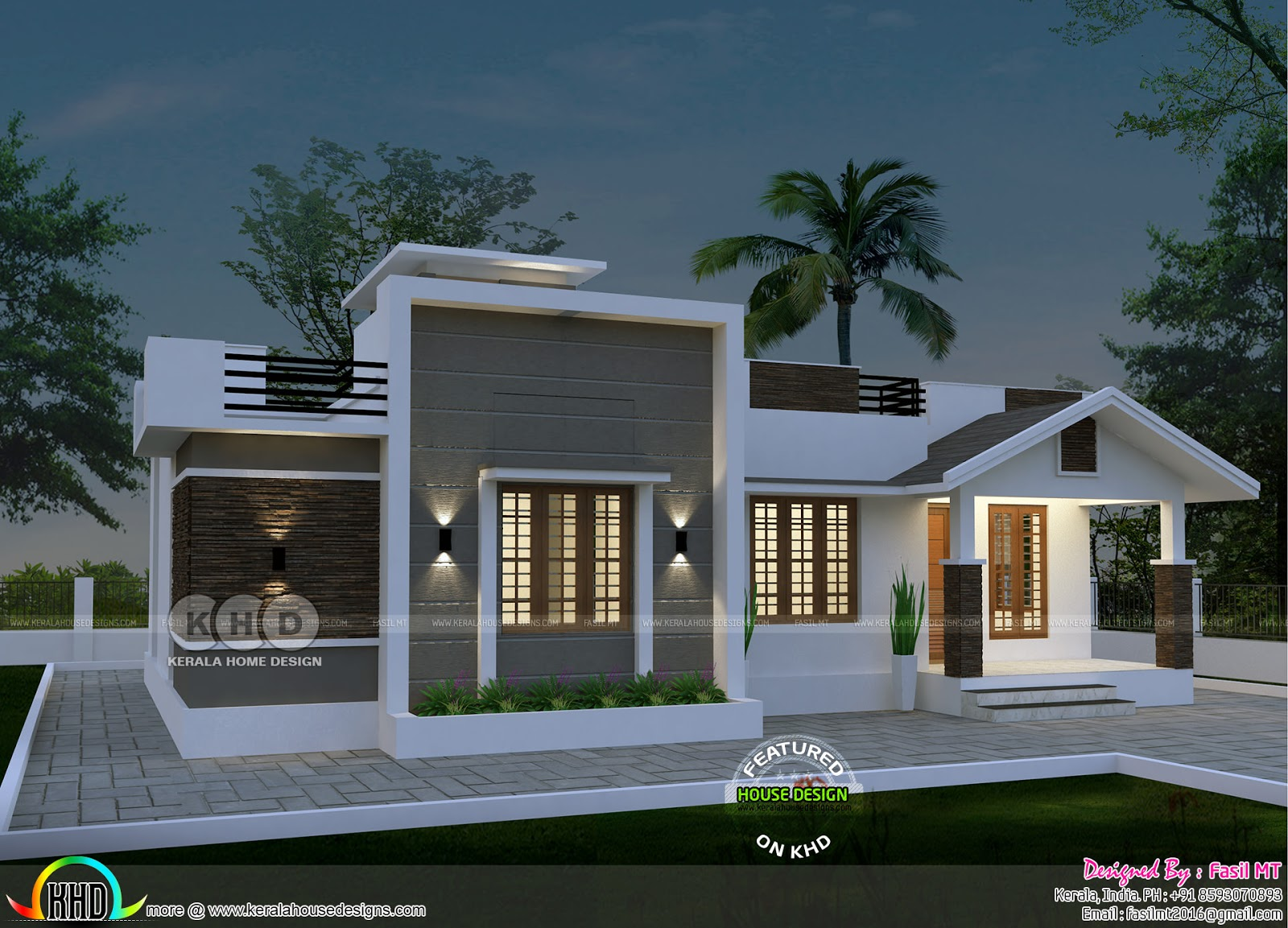Single Storied House Plan By Fasil Mt Kerala Home Design