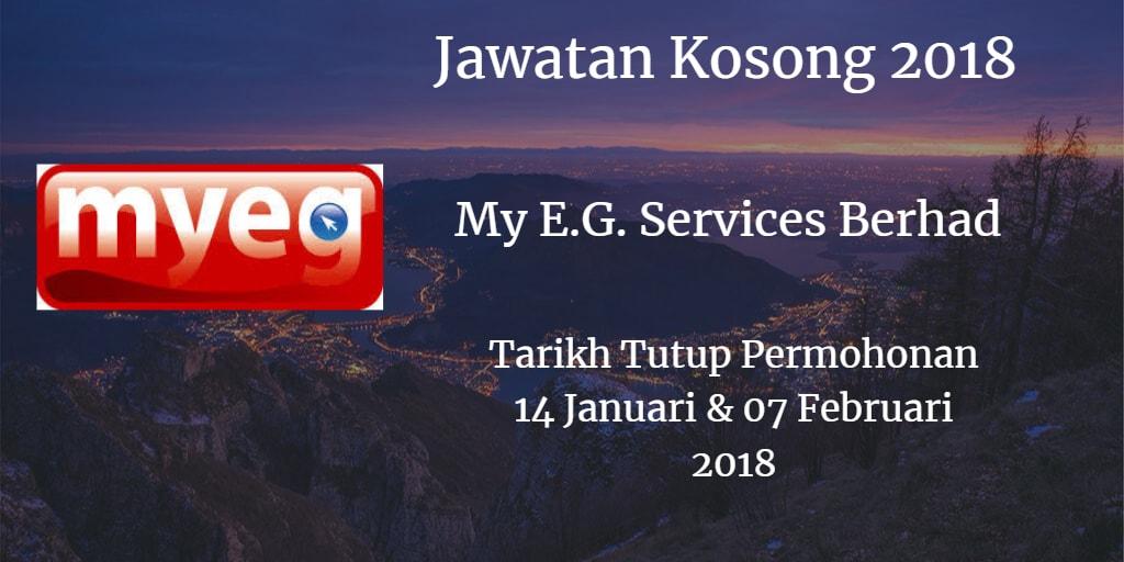 Jawatan Kosong My E.G. Services Berhad 14 Januari & 07 Februari 2018