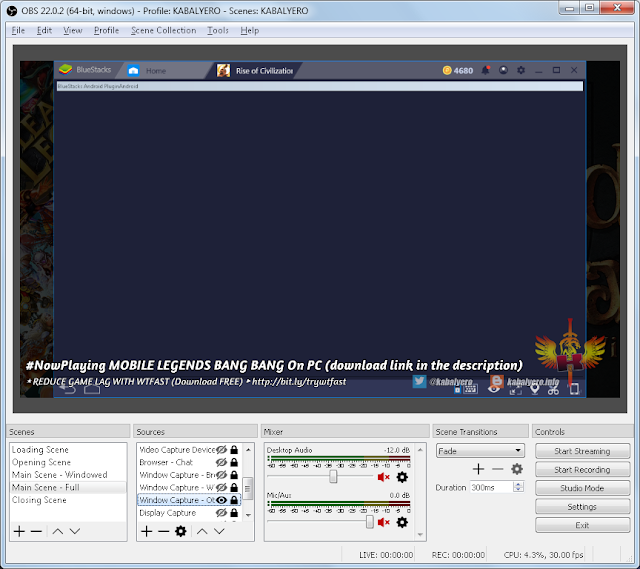 OBS Not Capturing Bluestacks 4, Displays A Blank Screen